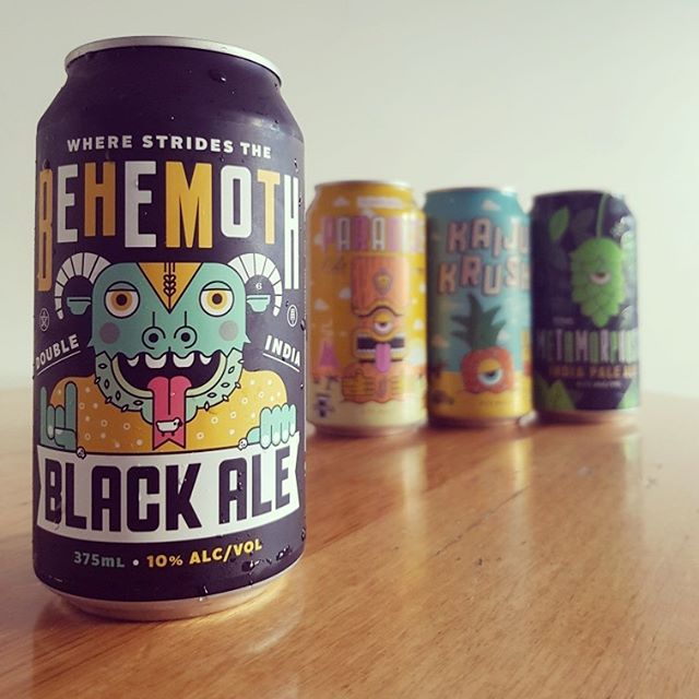 @kaijubeer Re-released mammoth 10% BEHEMOTH Double India Black Ale is now in stock @pizzapublaunceston. Call in and pick up your can today! #kaijubeer #pizzapublaunceston