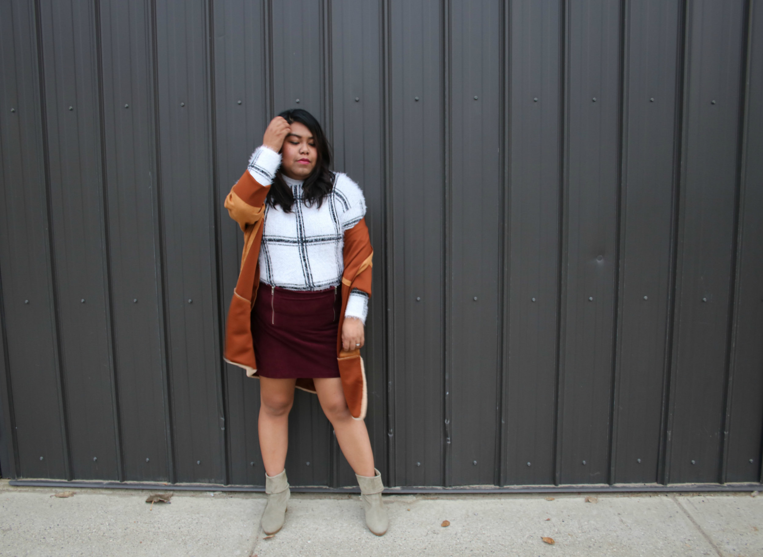 how to wear suede skirt, why wear suede skirt, easy ways to wear suede skirt, suede skirt for fall, red suede skirt, fall outfit ideas, casual suede skirt, casual fall outfit, casual suede skirt outfit, why you need a suede skirt, suede skirt fashion, suede skirt trend, ways to wear suede skirt, wear a suede skirt, why wear suede, how to wear suede