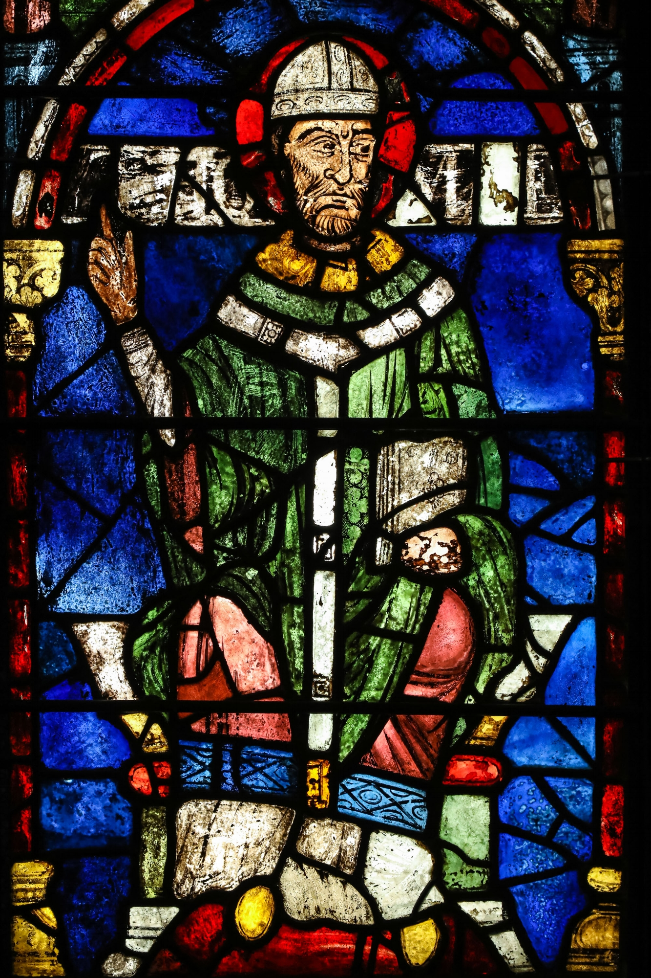 This stained glass portrait of St Thomas Becket from Canterbury cathedral isn't quite all it seems. Can you spot the tell tales?