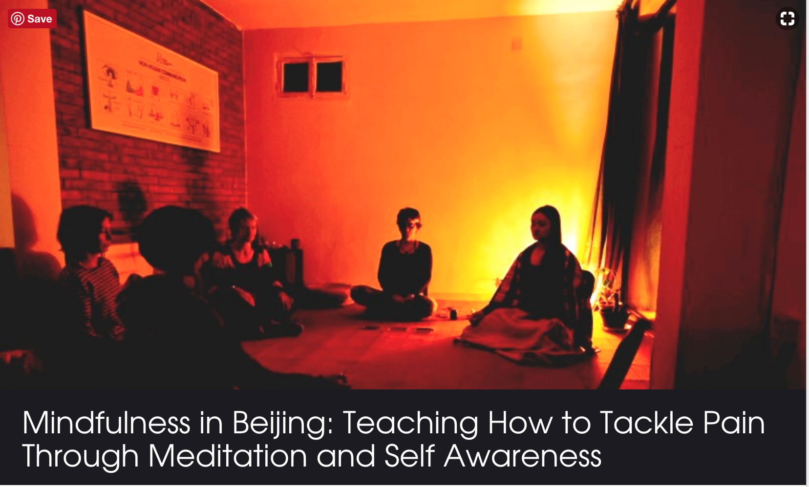 Mindfulness in Beijing: Teaching How to Tackle Pain Through Meditation and Self Awareness  - Read on the Beijinger