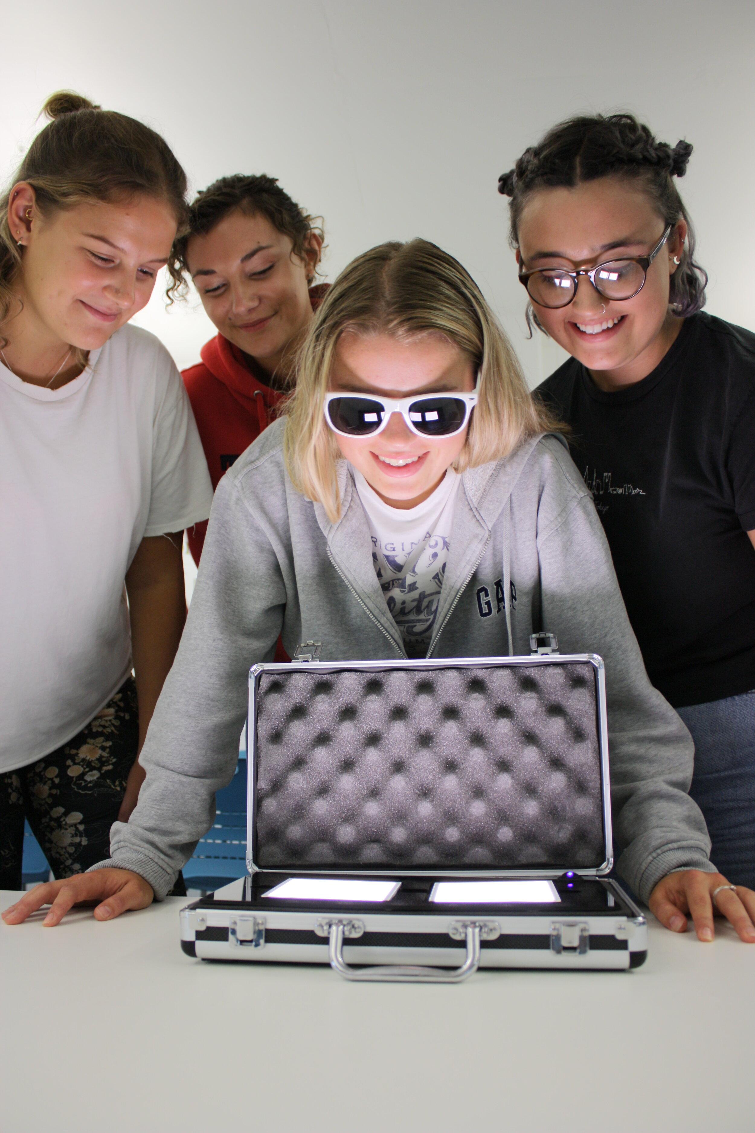 Millie White, Sophie Wilson, Zoe Mercer and Jess Logan- all Product Design students at Brunel University London.