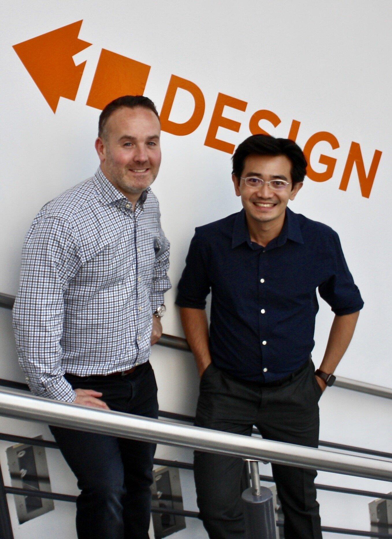 Joe Farinella,  Marketing Director, Lightly Technologies and  Dr Eujin Pei,  CEng CTPD MIED FHEA ProBIDA