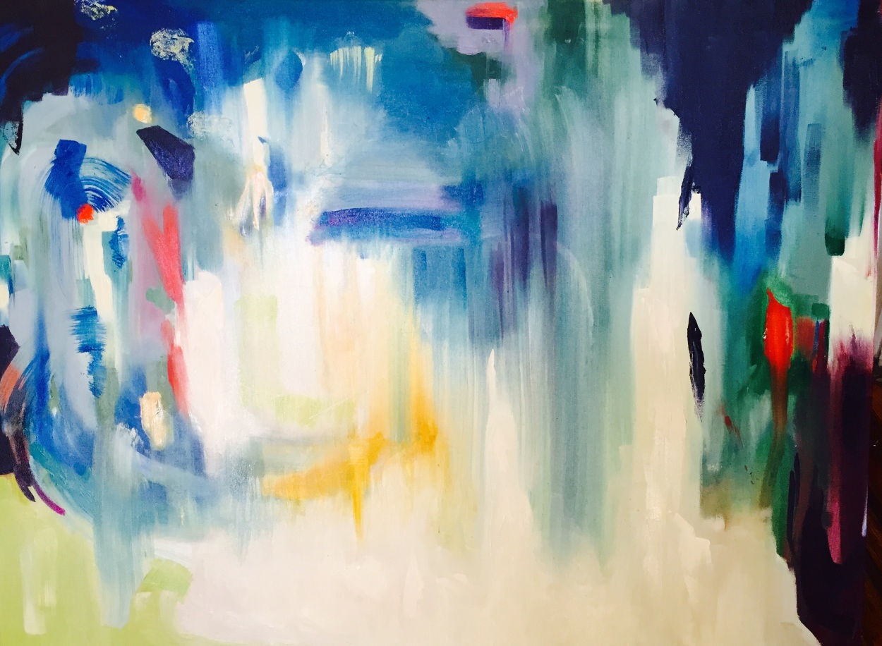 """Veridian Fade  (2017) - Oil on canvas - 48x60"""" - (Commissioned)"""