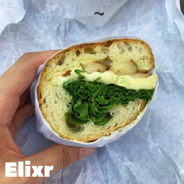 I have yelled from the mountain tops about how much I love @elixrcoffee coffee beans but OH BOY now I discovered that they also have delicious baguette sandwiches???⁣⠀⠀⠀⠀⠀⠀⠀⠀⠀ ⁣⠀⠀⠀⠀⠀⠀⠀⠀⠀ If you want to test the limits of your jaw, a baguette sandwich is always the way to go. However, this brie, pear and arugula sandwich can test the limits of my TMJ any day of the week. ⁣⠀⠀⠀⠀⠀⠀⠀⠀⠀ ⁣⠀⠀⠀⠀⠀⠀⠀⠀⠀ 🍽️🍽️🍽️🍽️🍽️🍽️⁣⠀⠀⠀⠀⠀⠀⠀⠀⠀ #eeeeeats #eatfamous #dessert #infatuation #vscofood #dessertgoals #yougottaeatthis #snackcity #tryitordiet #zagat #getinmybelly #dailyfoodfeed #buzzfeast #buzzfeedfood #huffposttaste #foodporndaily1 #foodforthesoull #eatthis #swagfoodphilly #eatnowplaylater #devourpower #bestfoodphilly #feastonthis #thrillist #fabfoodfiesta #eastcoastfoodies #dailyfoodiefeed #fabfoodiefest #befatbehappy