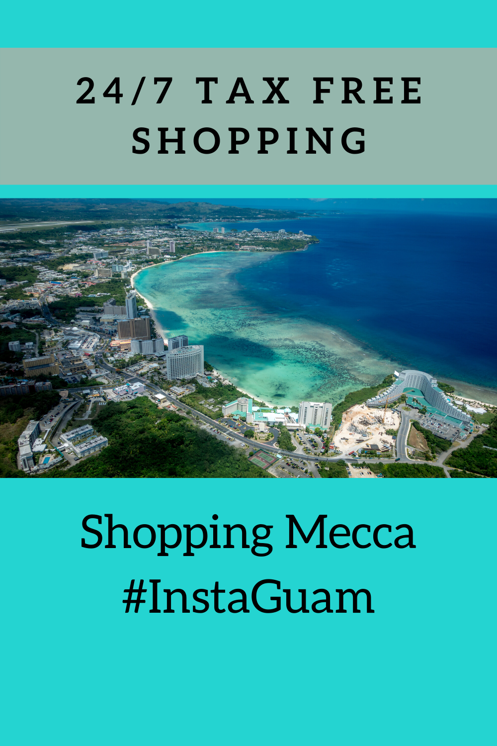 Guam: a modern tropical paradise surrounded by crystal clear waters and white sand beaches.