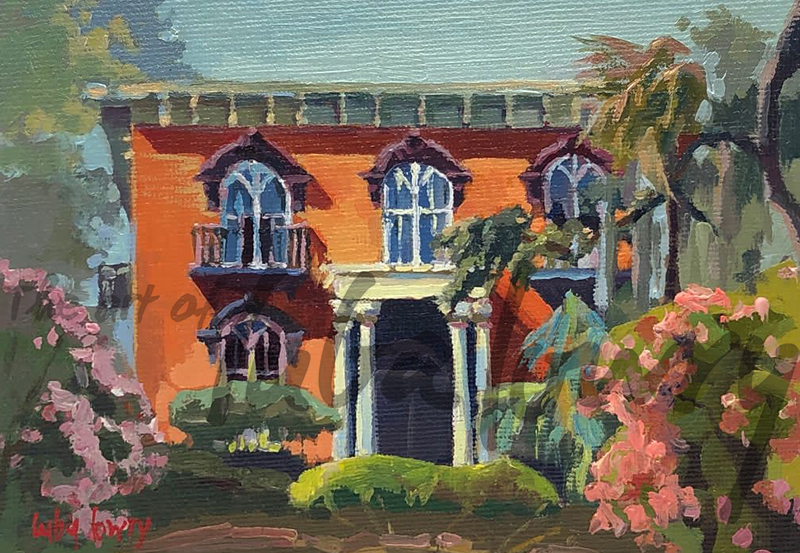 """Mercer-Williams House by Luba Lowry, 48""""x36"""", Oil on Canvas"""