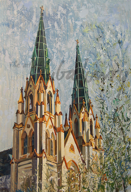 """Cathedral No. 1 by Luba Lowry, 24""""x36"""", Oil on Canvas: Private Collection"""