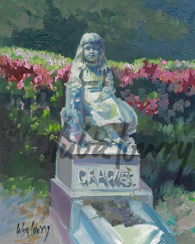 "Gracie by Luba Lowry, 8""x10"", Oil on Panel En Plein Air"