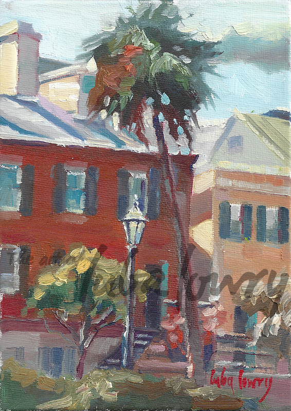 """Madison Square by Luba Lowry, 5""""x7"""", Oil on Panel"""