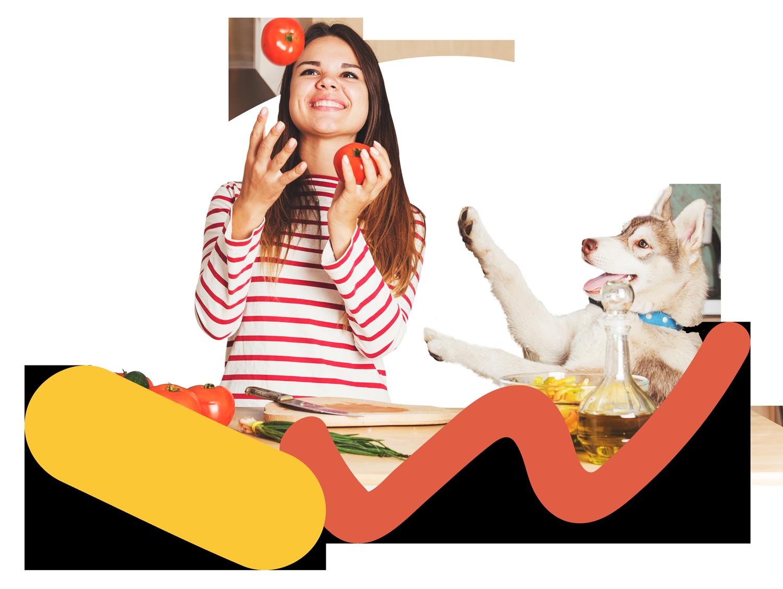 Diventaun Dog Chef esperto! - Evita le sostanze tossiche, rispetta i fabbisogni energetici e nutrizionali. Con LezPet sarai un vero Dog Chef: grazie ai suggerimenti e alle ricette create dal Prof. Biagi, potrai alimentare il tuo cane in modo sano e divertirti a preparare i suoi pasti utilizzando gli alimenti indicati e le dosi corrette.