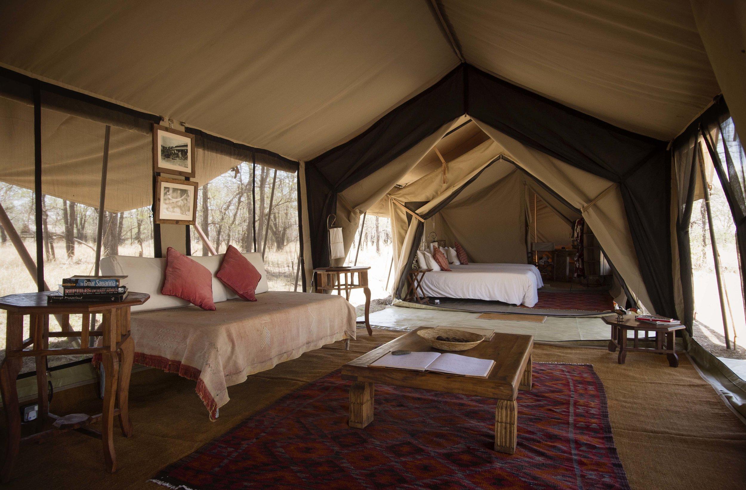 top serengeti mobile tent camps - serian's serengeti south camp