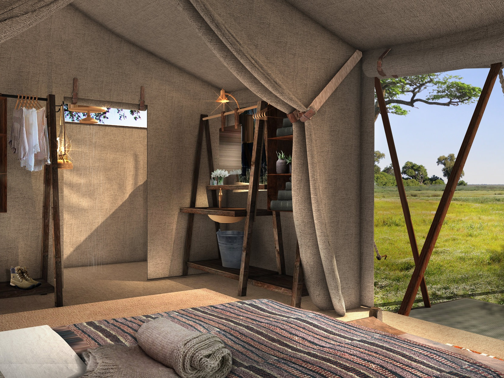 african bush camps - expedition migration camp