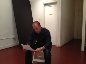 Rehearsal pic of Douglas Taurel in American Solo Show