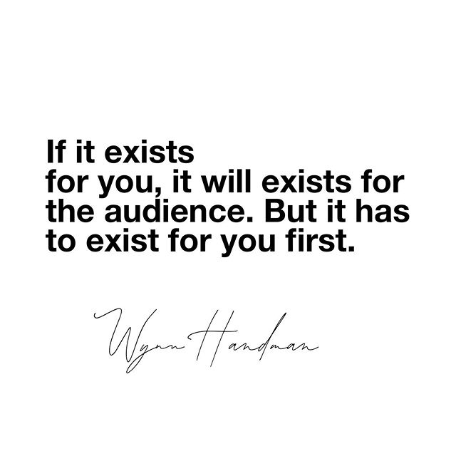 "If it exists for you, it will exists for the audience. But it has to exist for you first. - Wynn Handman. • One of the most important lessons Wynn taught me as an actor. See the Netflix documentary ""It takes a lunatic."" By @billylyonsnyc"