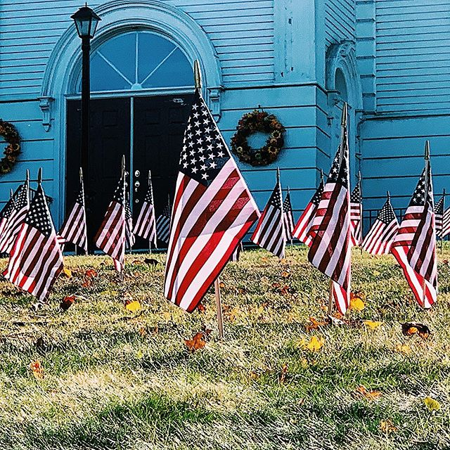 Cape Cod, Massachusetts is absolutely beautiful. So grateful to the towns and cities this play has taken me and my family. • Every church has an event and flags laid out for Veterans Day. It's just simply beautiful the way they are honoring their veterans.