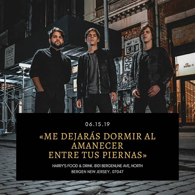 #NewJersey Para todos los amantes del rock latino, esta frase y muchas otras más podrán cantarla junto a nosotros MAÑANA! Los esperamos a todos en @harrysfoodanddrink será una gran noche de clásicos y además presentaremos temas de nuestro nuevo disco. @chamosentertainment lo sabe y no quiere que te lo pierdas! . 📷: @doblea.jpg 🖌️: @schokovic . . #music #liveshow #rock #classics #gig #rockenespañol #newjersey #newyork #rockvenezolano #nycbands  @venezolanosennewyork @veneyorker
