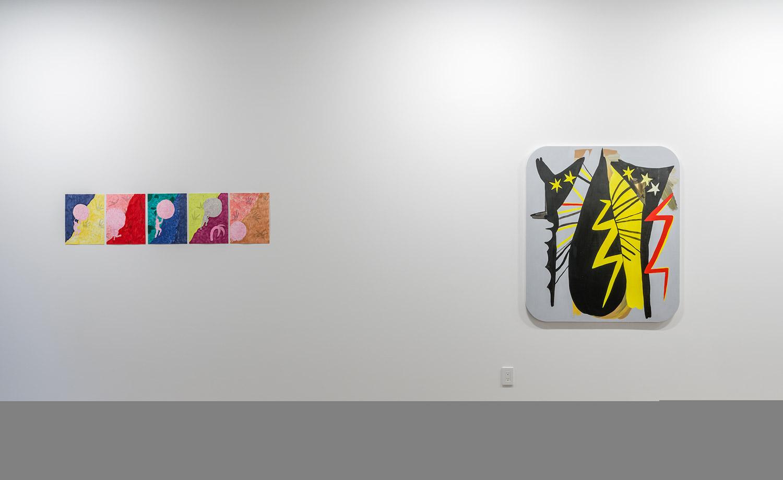 Galerie Deux Poissons, Rebecca Munce (left), Madeleine Mayo (right), 2018