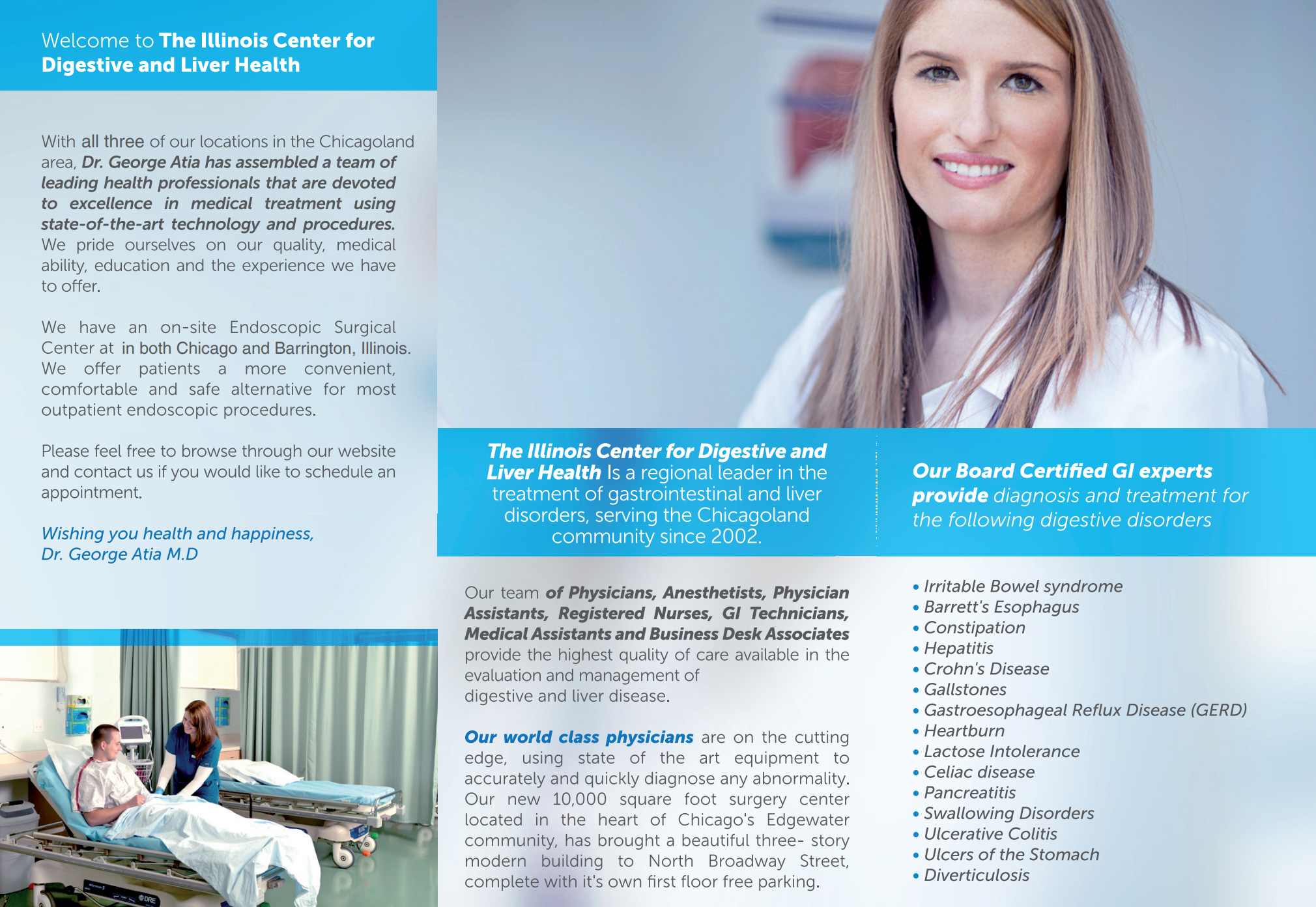 DOWNLOAD OUR BROCHURE - Find out what our center has to offer, call us today for a consultation.