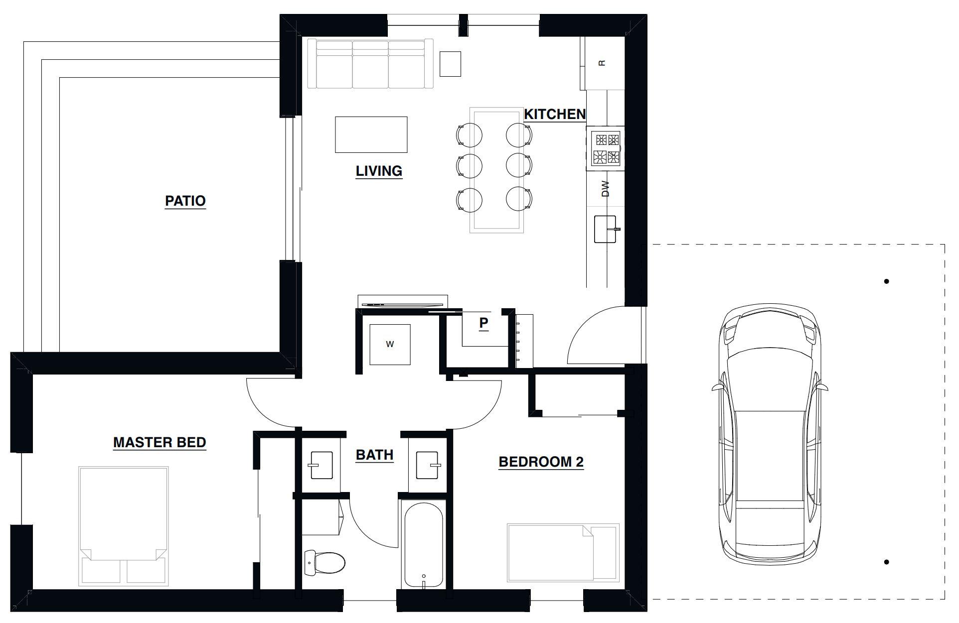 Small Haus Small 800 Floorplan