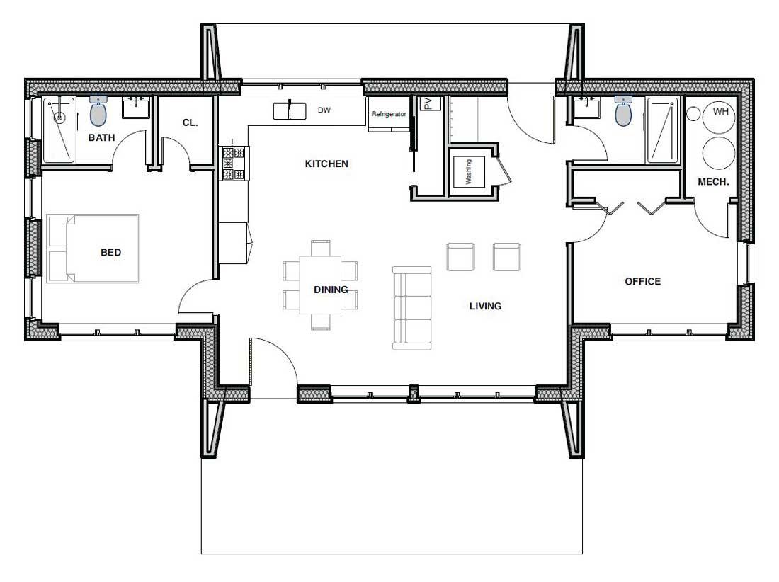 Copy of Small Haus Medium 1050 Floorplan