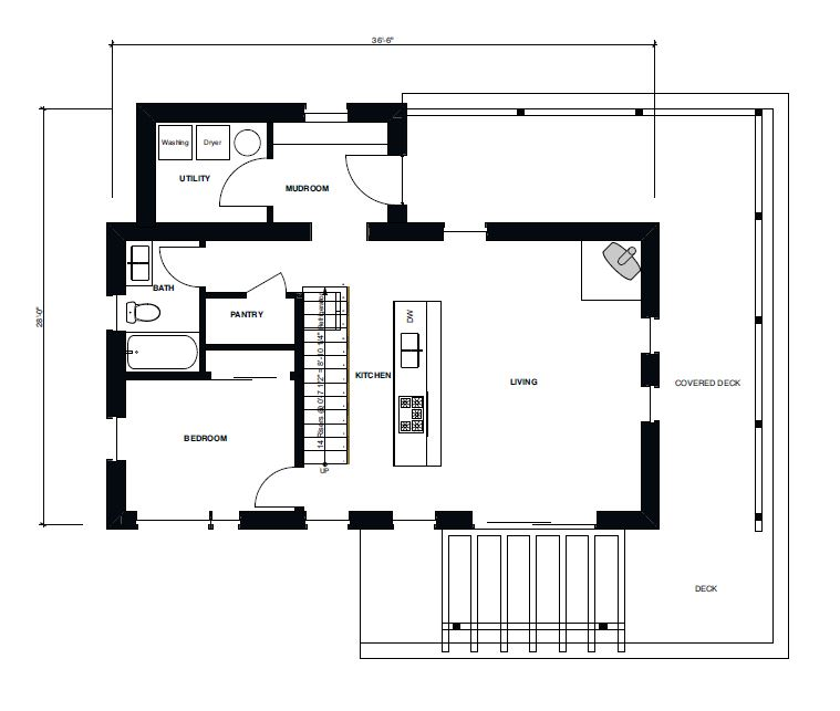Small Haus Large 1500 First Floor