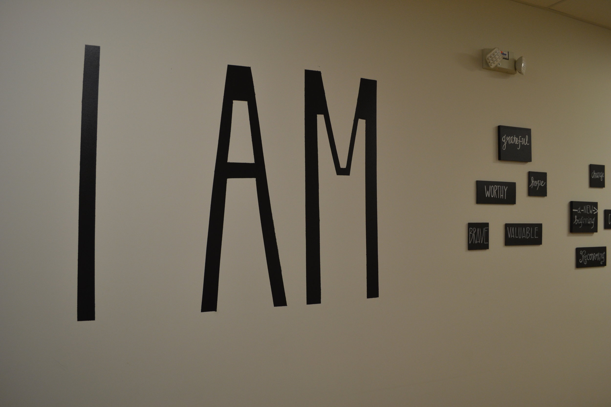 'I Am' wall inside the Off The Streets building