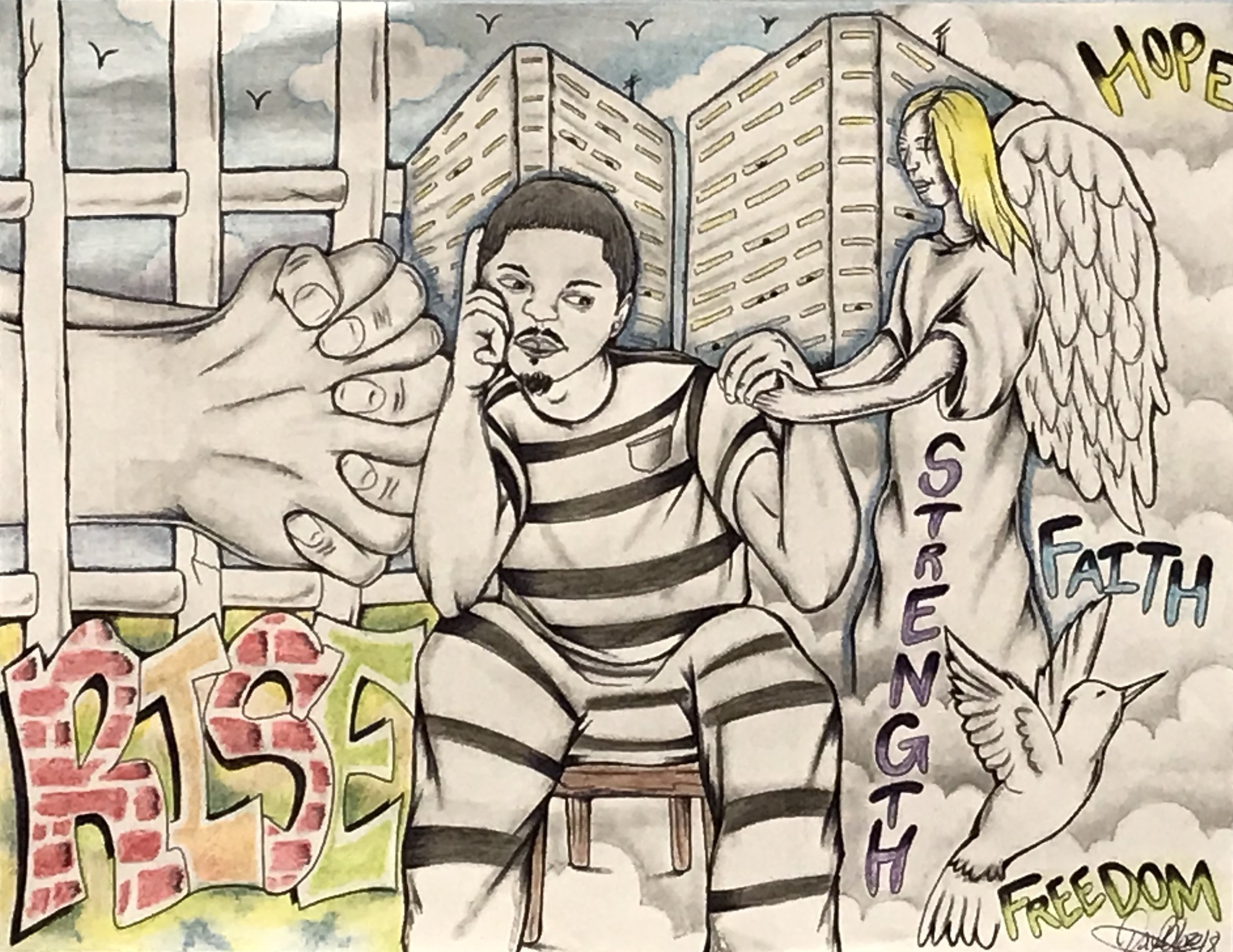 Illustration submitted by 'Dayz Blaze,' an inmate at the Hamilton County Justice Center