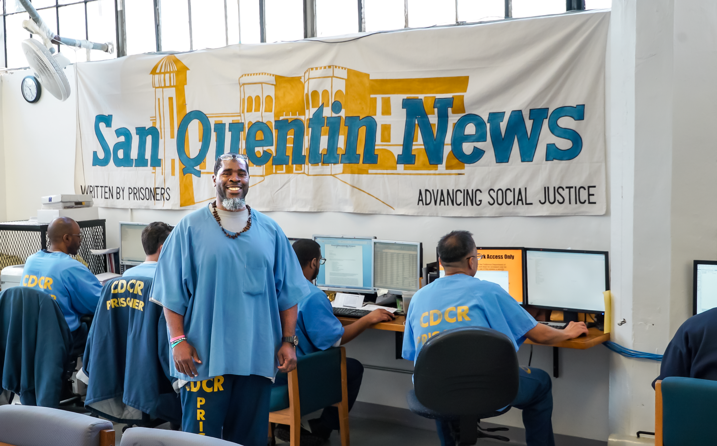 Marcus Henderson, Editor-in-Chief of  San Quentin News