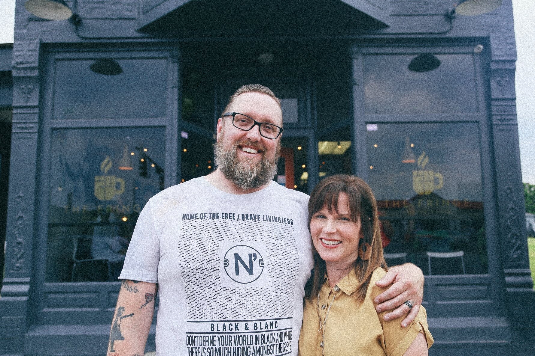 Patrick and Sarah Davis, The Fringe Coffee House owners