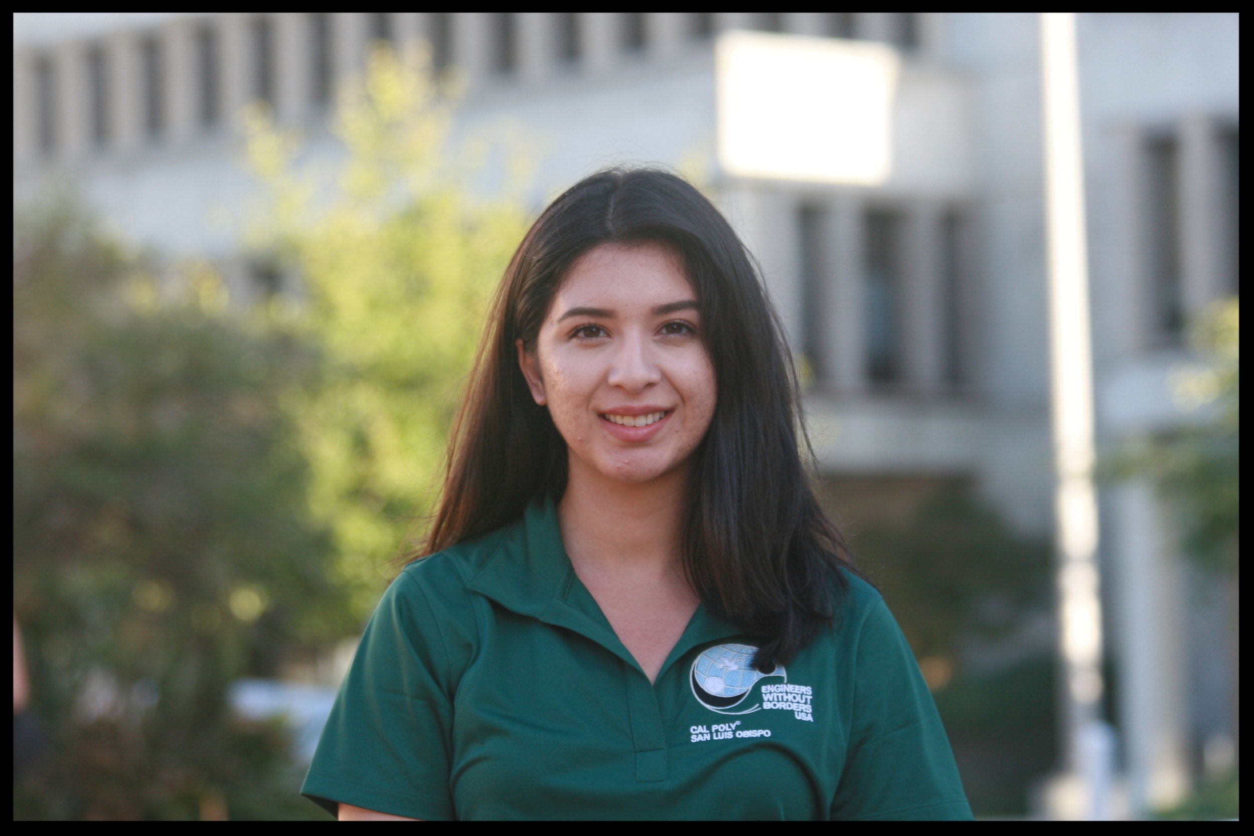 Andrea Leal - Events Coordinator    Grad 2021 - Civil Engineering   Andrea is from San Diego, California. She first became interested in development when she witnessed the difference between the infrastructure and water quality in Tijuana versus that of San Diego, only a few miles away. Andrea joined Cal Poly's EWB to work with communities to attain the quality of life they deserve regardless of their geographic boundaries. Andrea is currently in the Nicaragua team as the Education lead, and her favorite part of EWB is working alongside some of the most passionate, humble, and hard-working people in Cal Poly.