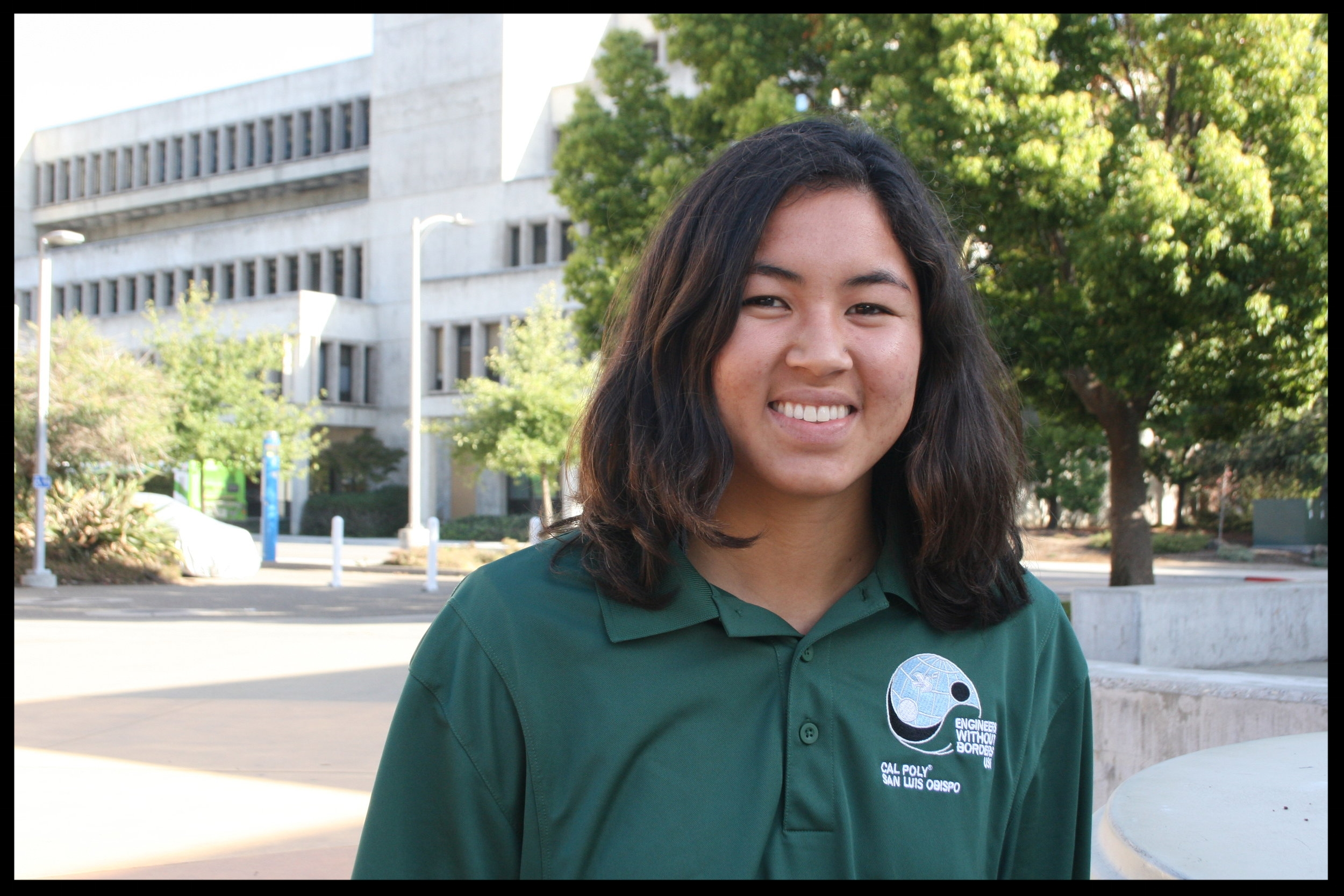 Zoe Lam - Fiji Team Project Manager    Grad 2021 - Mechanical Engineering   Zoe is a second year Mechanical Engineering student from Los Gatos, CA (Bay Area). She joined EWB because she wants to use her education to help others. Her favorite memory of EWB is going to Fiji, learning about the culture, living on island time, drinking out of coconuts and having an overall very successful second assessment trip. When Zoe isn't doing something for EWB, she loves to cook (roasted vegetables are her favorite!), talk about going surfing but never going because she gets too cold and doesn't know how, and getting lost in the woods!