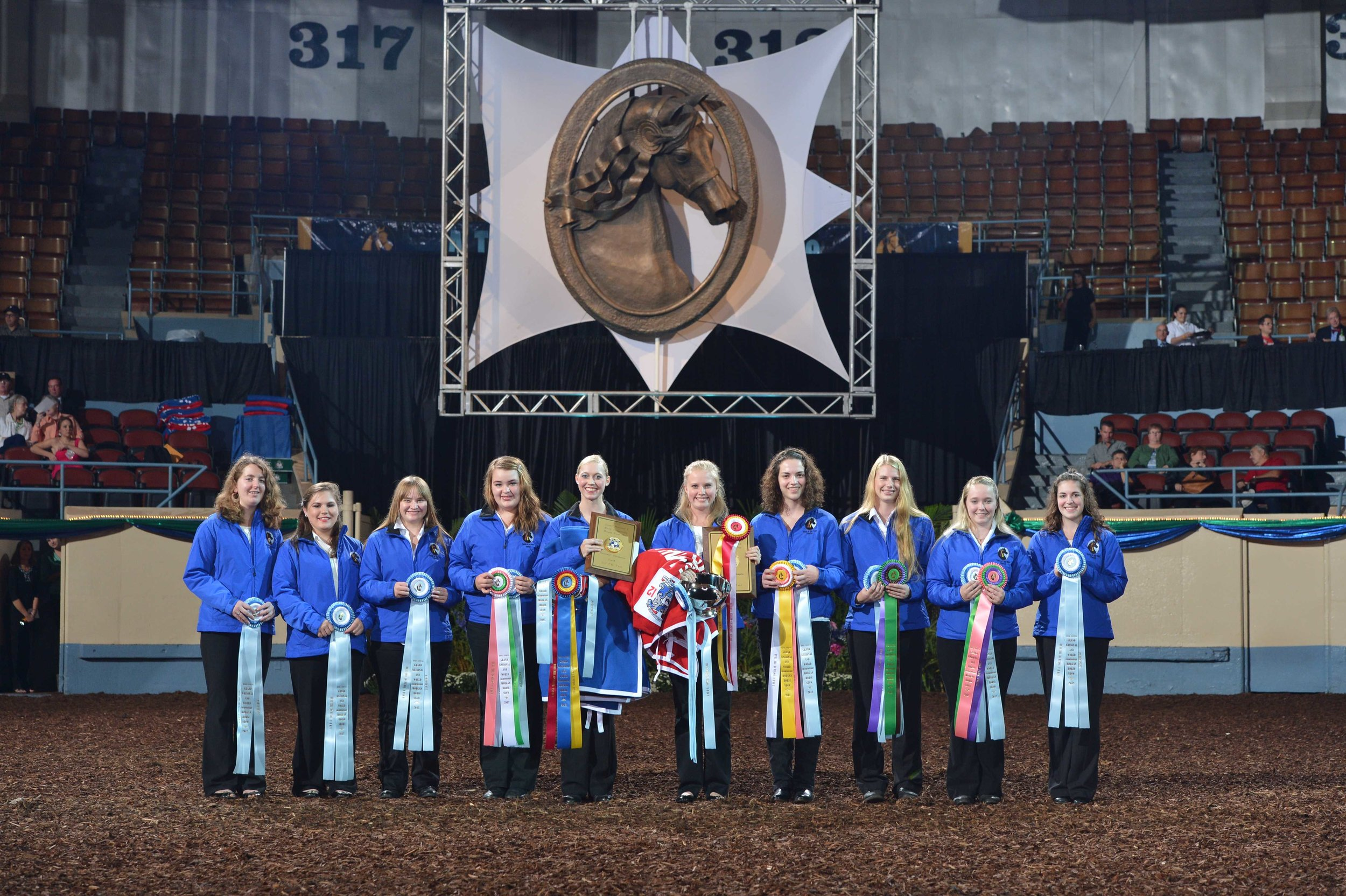 The American Morgan Horse Association's 2012 Youth of the Year participants. Photo by Howard Schatzberg.