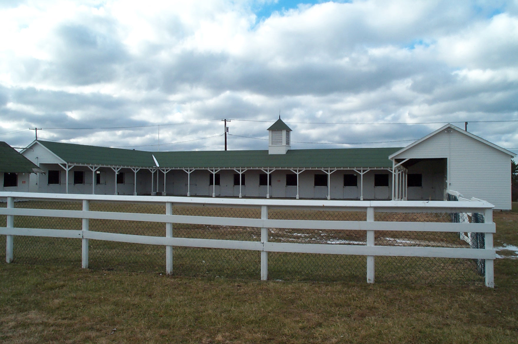 Old Field Farm's Richard Haviland Smythe Main Barn is undergoing a renovation of its roof to preserve the historic structure that is the site of many equine educational and cultural activities. Photo courtesy Old Field Farm, Ltd.