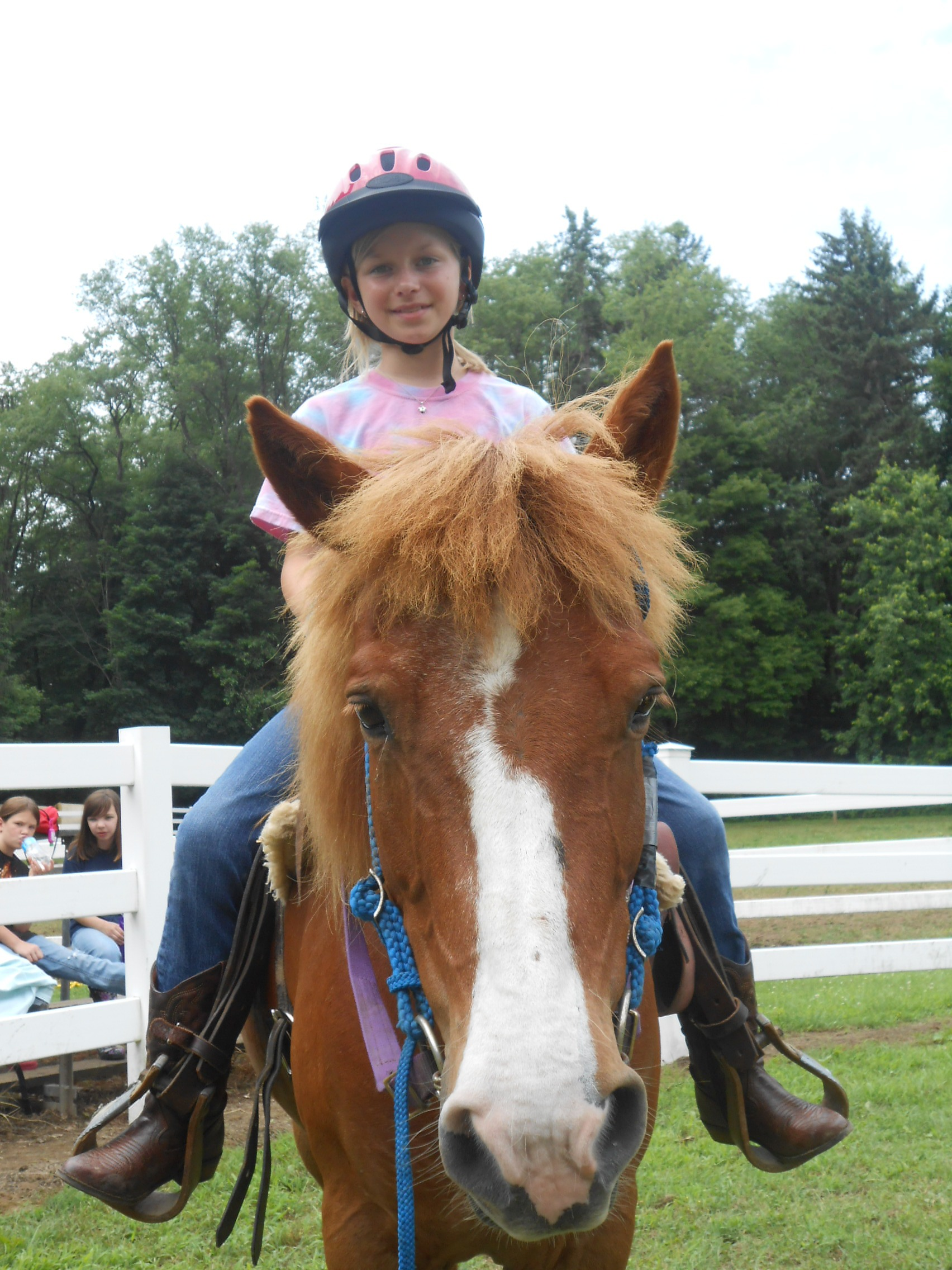 A Girl Scout Junior rides as part of the rapidly growing equestrian program at Camp Skymeadow outside Pittsburgh. Photo by Lisa Shade, Girl Scouts Western Pennsylvania.