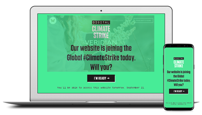 Click image to find more resources. Spread the word about the #ClimateStrike with a small, but powerful, banner. On September 20th, you can expand it so your website can join the strike — digitally!