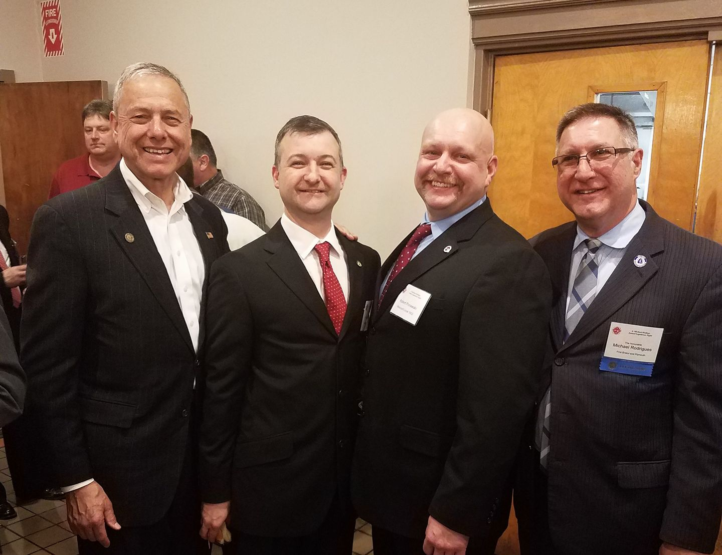 The Professional Fire Fighters gathering is one of the nicest of the year. State Senator Michael Rodrigues and I shared great conversation with Westport's Keith Nickelson and Bob Powarski