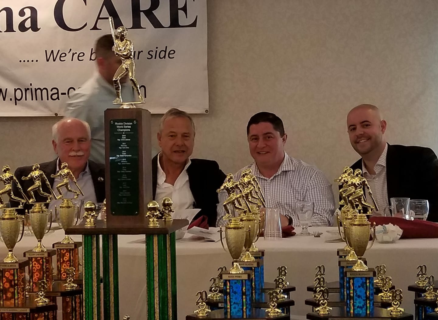 Maplewood Baseball Awards Banquet, the largest in Fall River (pictured here with Sheriff Hodgson, School Committee Member Kevin Aguiar, and City Council President Cliff Ponte)