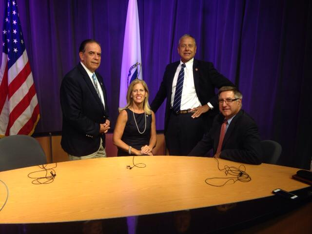 At a taping of Voices From the Hill, a program on FRCTV airing Mondays @ 4:30 PM. It is a monthly program hosted by the members of Fall River's State Legislative delegation. Tune in to find out what we are working on and get news straight from your representatives.