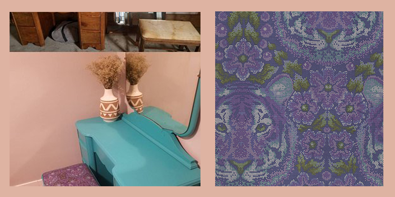 Bench and tiger fabric  merged.jpg