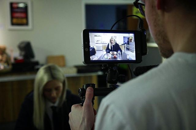 """Our crew working hard on set of """"Controlling Behaviour"""" - a really rewarding project with Norfolk County Council."""