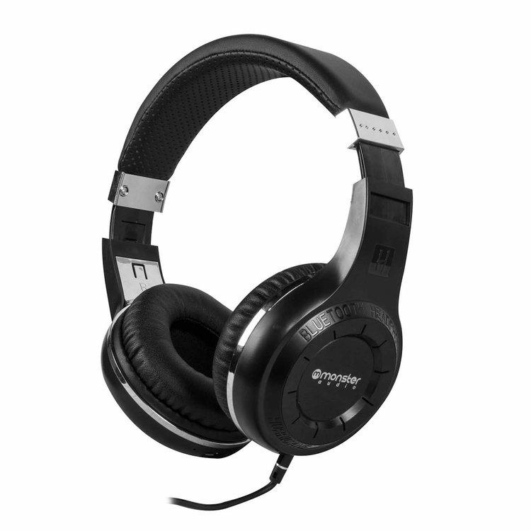 Monster Audio Bluetooth Profesional MX-800 - Impactante sonido. Larga duración de batería (46Hr). Tecnología X-BASS con Bajo ultrapotente. Puedes conectarlo a otro Audífono. Función manos libres. Recargable via USB.