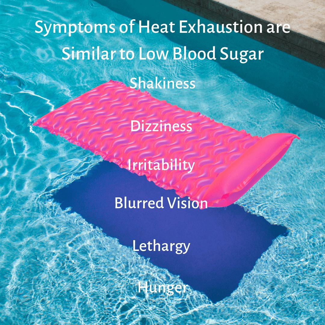 Symptoms of Heat exhaustion vs symptoms of low blood sugar
