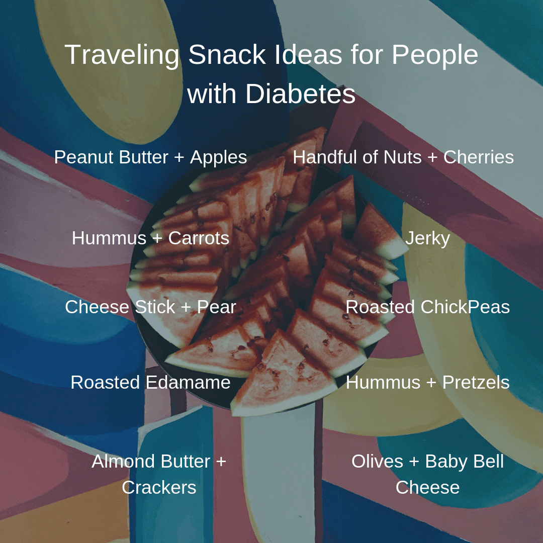 Traveling snack ideas for people with diabetes.