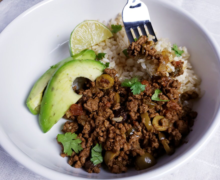How to make picadillo in the instant pot or slow cooker.