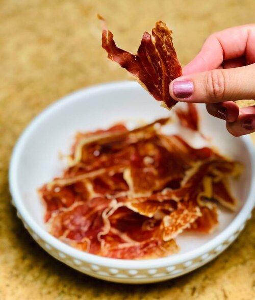 Crispy prosciutto chips!