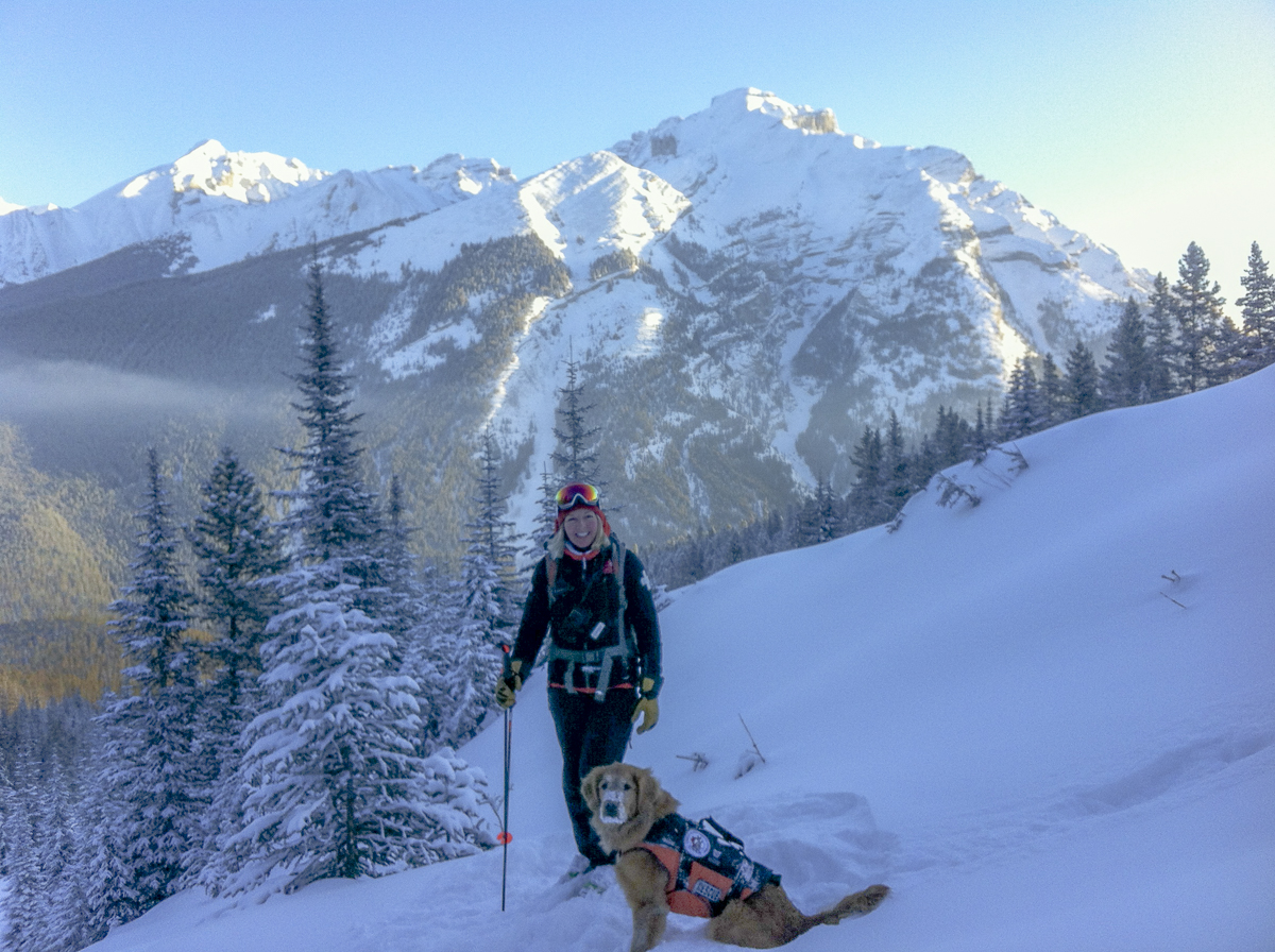 Lily and Liz at work - Mt. Norquay Ski Area, Banff, Alberta.