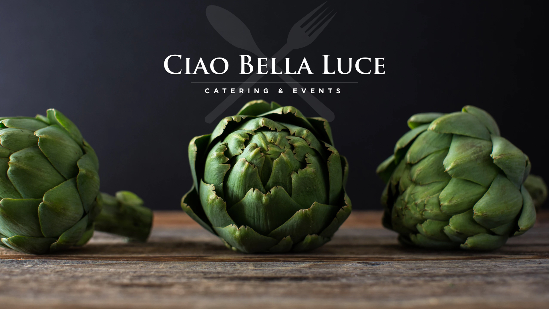 Identity Design - Ciao Bella Luce Catering & Events needed a new look to go after a big new account.
