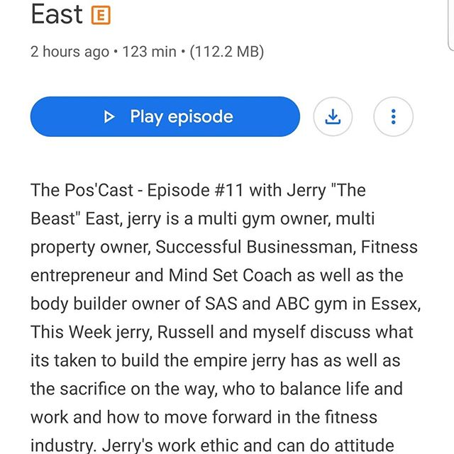 Madpositivity pod cast with Jerry the beast east and love muscle Russell grant. On all major platforms.