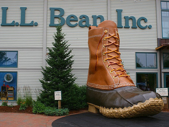 Shop - On a rainy day head down to Freeport for some shopping at the original LL Bean store and other outlets