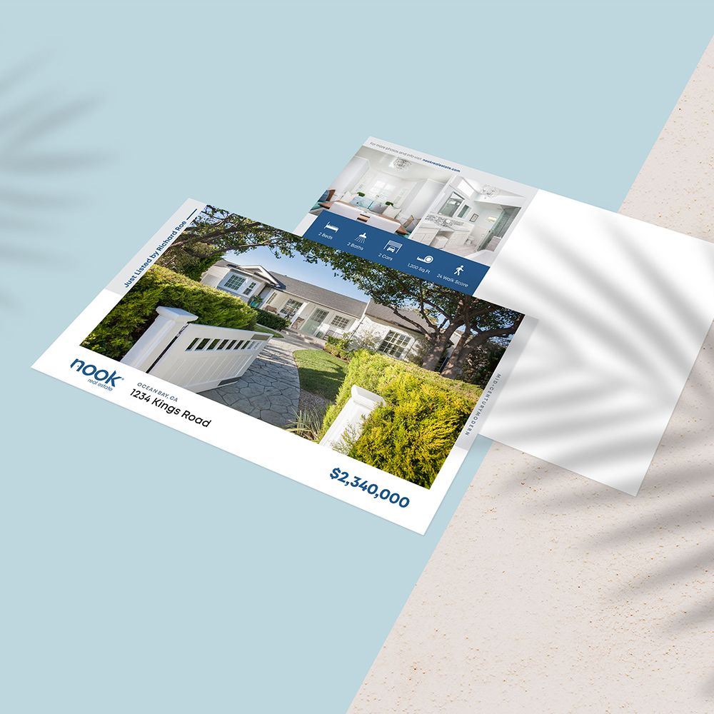 """""""Just Listed"""" Direct Mail Postcards"""